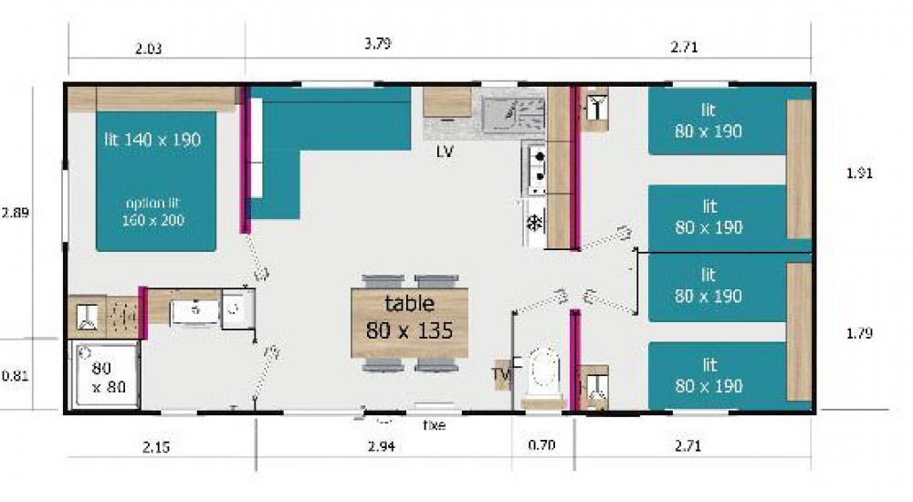 Plan - Residential Super Loft mobile home