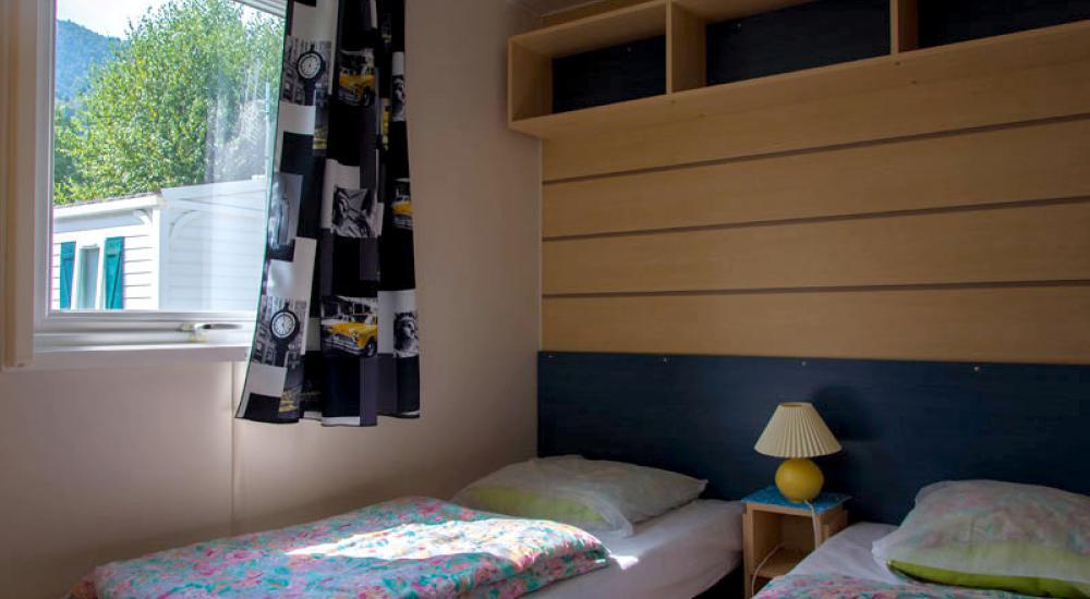 Chambre lit jumeaux - Mobil-home supermercure