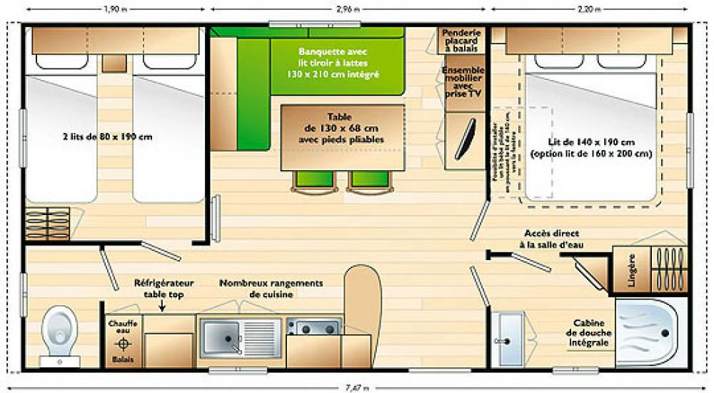 Plan - Mobil-home supermercure