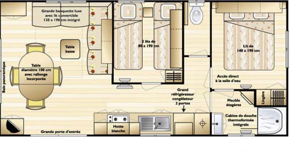 Plan - Panoramic mobile home Supertitania
